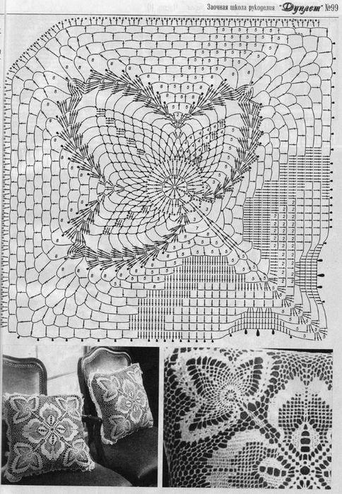 176 (484x700, 291Kb) | Filet | Pinterest | Tejido, Ganchillo y ...