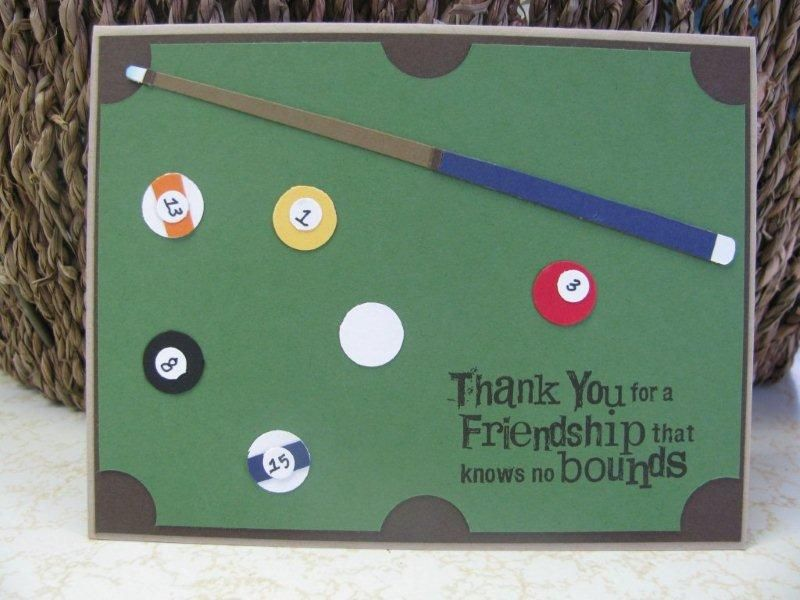 Exceptional Pool Table Card