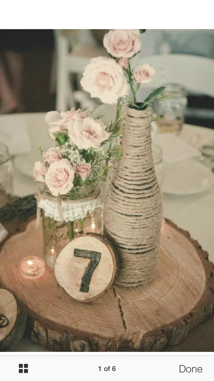 Wedding decoration ideas simple  Table centrepiece ideas  weddings  Pinterest  Centerpieces and