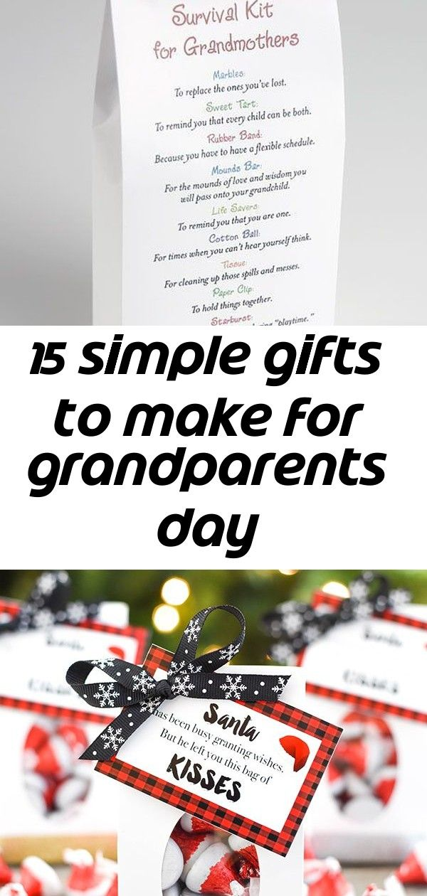 15 simple gifts to make for grandparents day #grandparentsdaycrafts