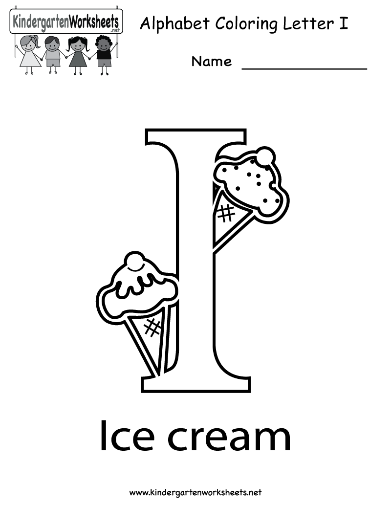 Image detail for -Letter I Coloring Worksheet - Free Kindergarten ...