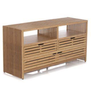 commode 3 tiroirs en bambou mekong prix