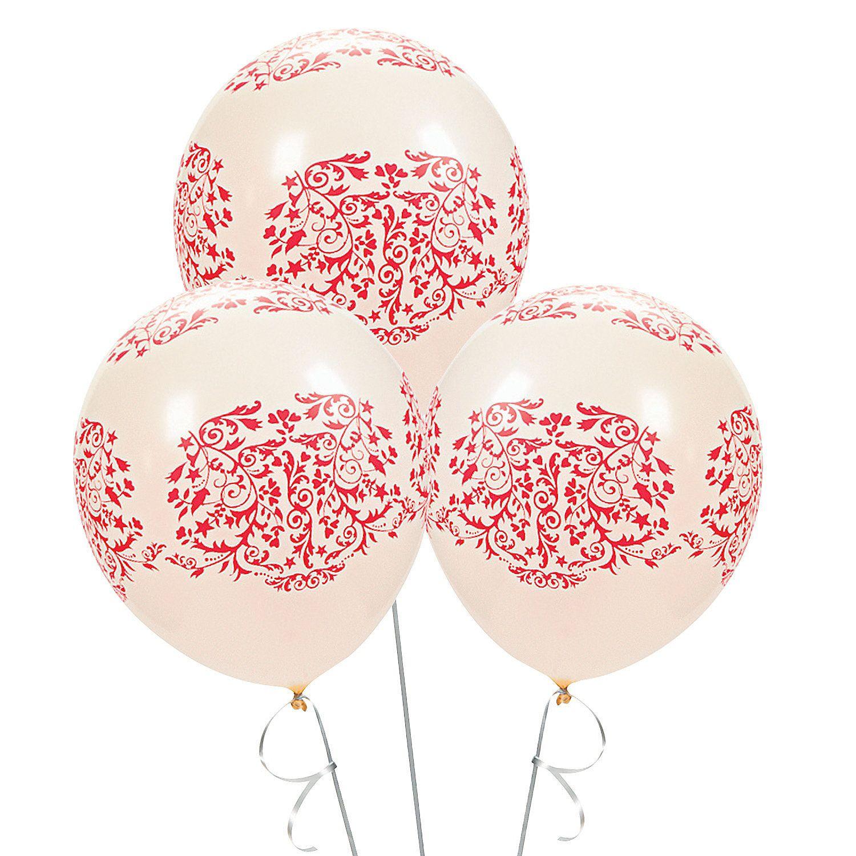 Red Flourish Latex Balloons - OrientalTrading.com | wedding stuff ...