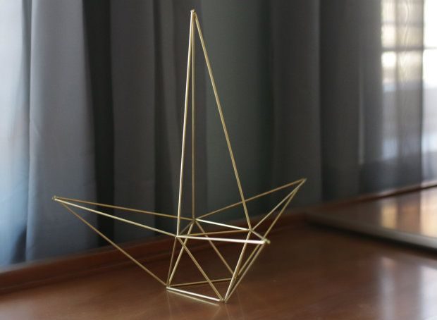 Top this year's tree with a modern spectacle. This geometric Himmeli-style star sculpture requires minimal supplies and is simple to construct — so crank up the holiday tunes and get started!