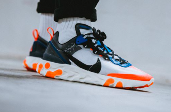 2c8e3fc91a11 Nike React Element 87 Total Orange Releasing This Week One of the three new  colorways landing
