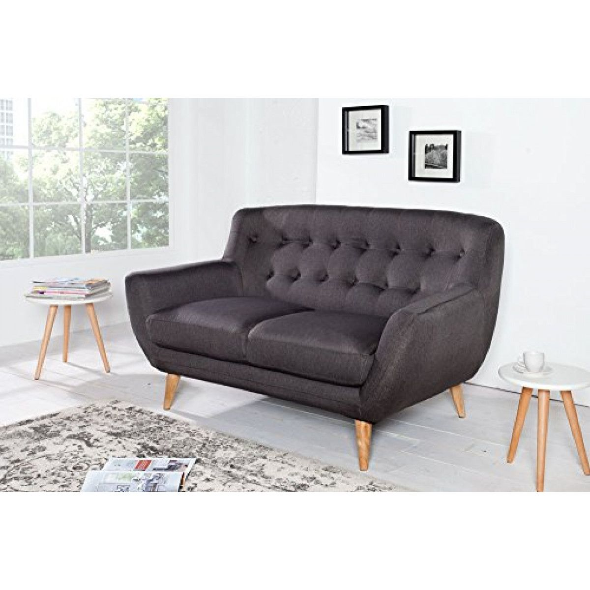 Invicta Interior 36548 Sofa Scandinavia Ii 2er Anthrazit