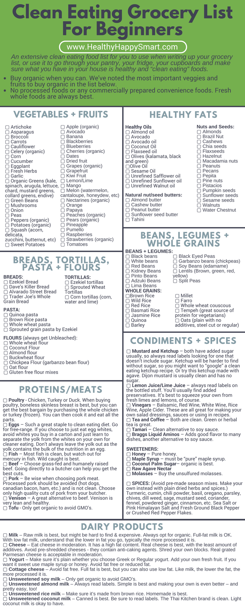 Clean Eating Grocery List Healthy Food List Hhs Clean Eating Grocery List Healthy Grocery List Healthy Food List