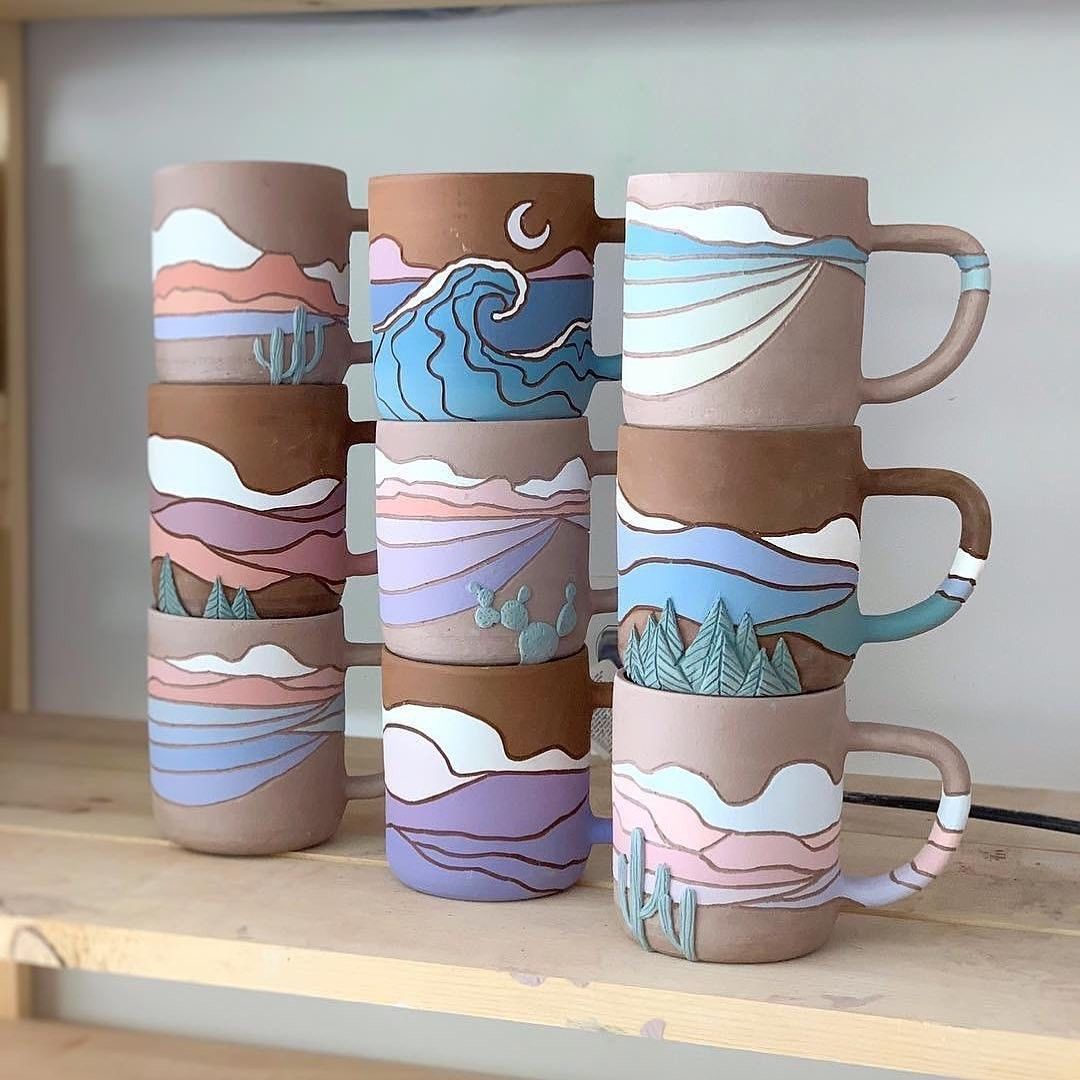 Over on our sister IG @designmilkeveryday we're loving these #ceramicmugs by @callahanceramics (who, btw, is having a shop restock at the end of the week ). #ceramicmugs