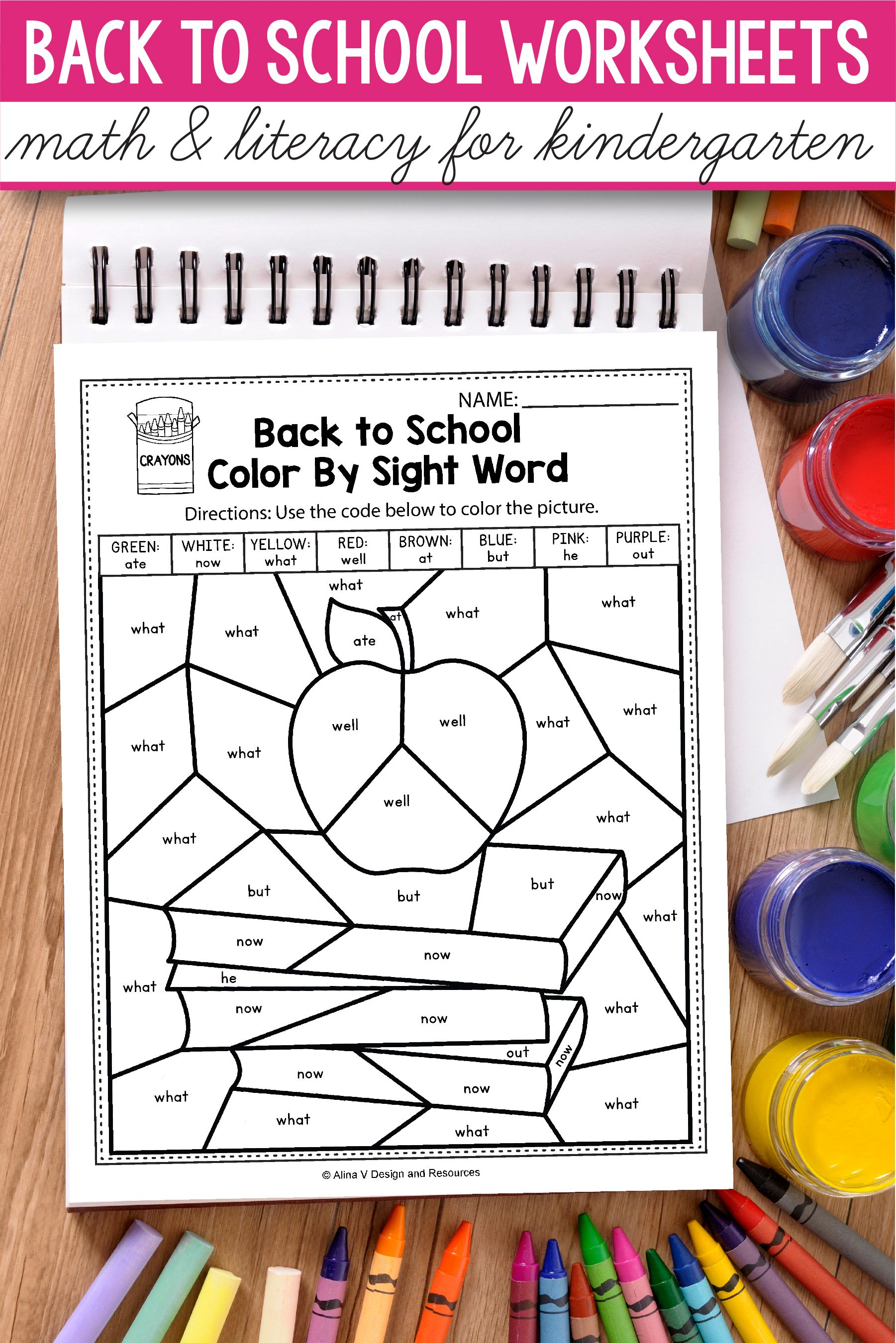 Back To School Math And Literacy Activities For
