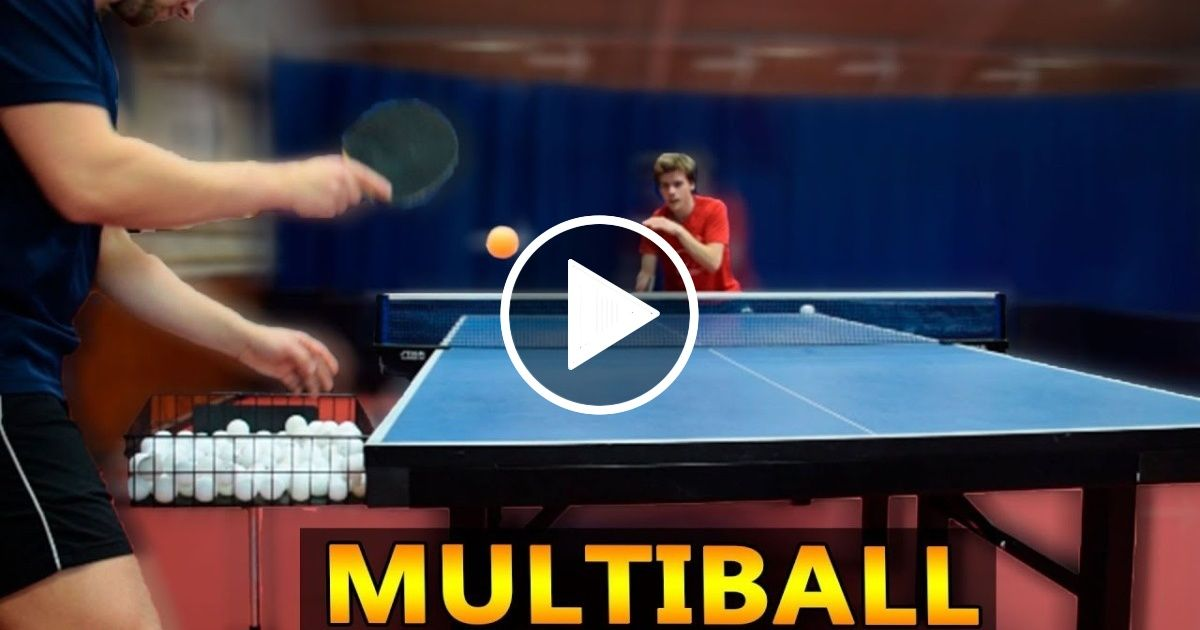 Multiball Training In Table Tennis I Pongfinity Sport Report Videos Table Tennis Tennis Table