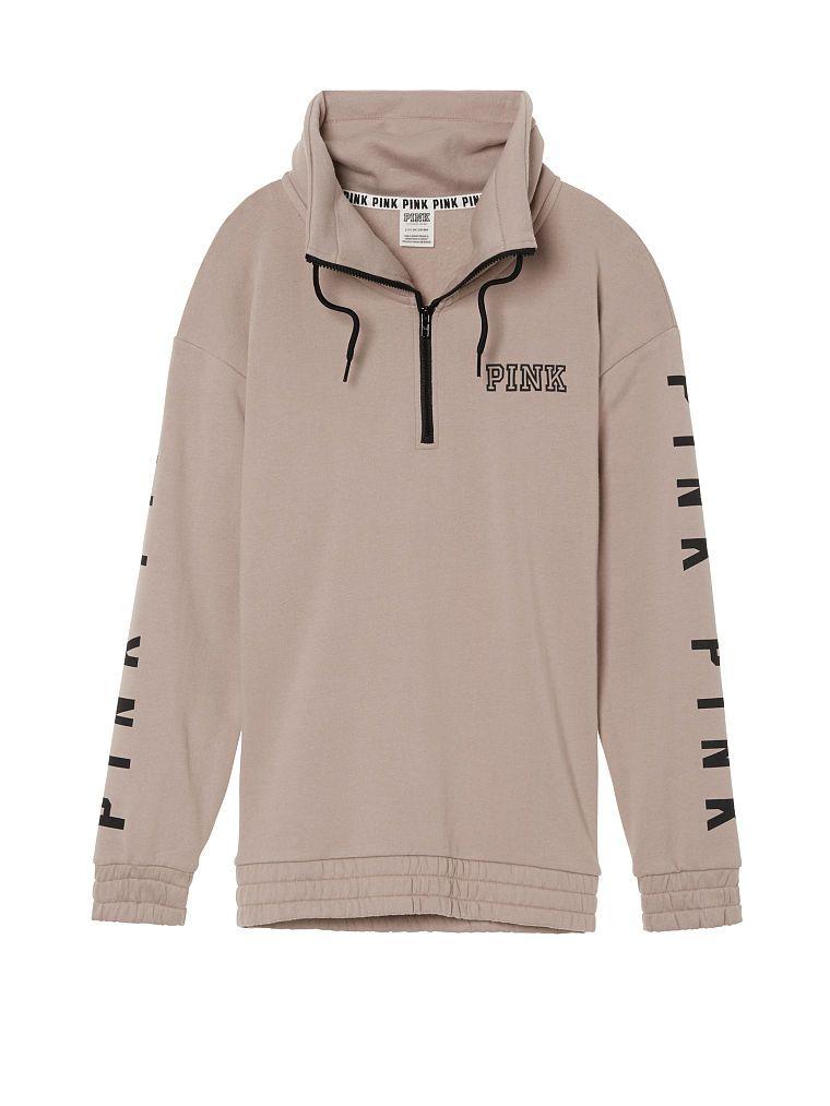 Cowl Half-Zip - PINK - Victoria's Secret   Hoodies & Sweatshirts ...