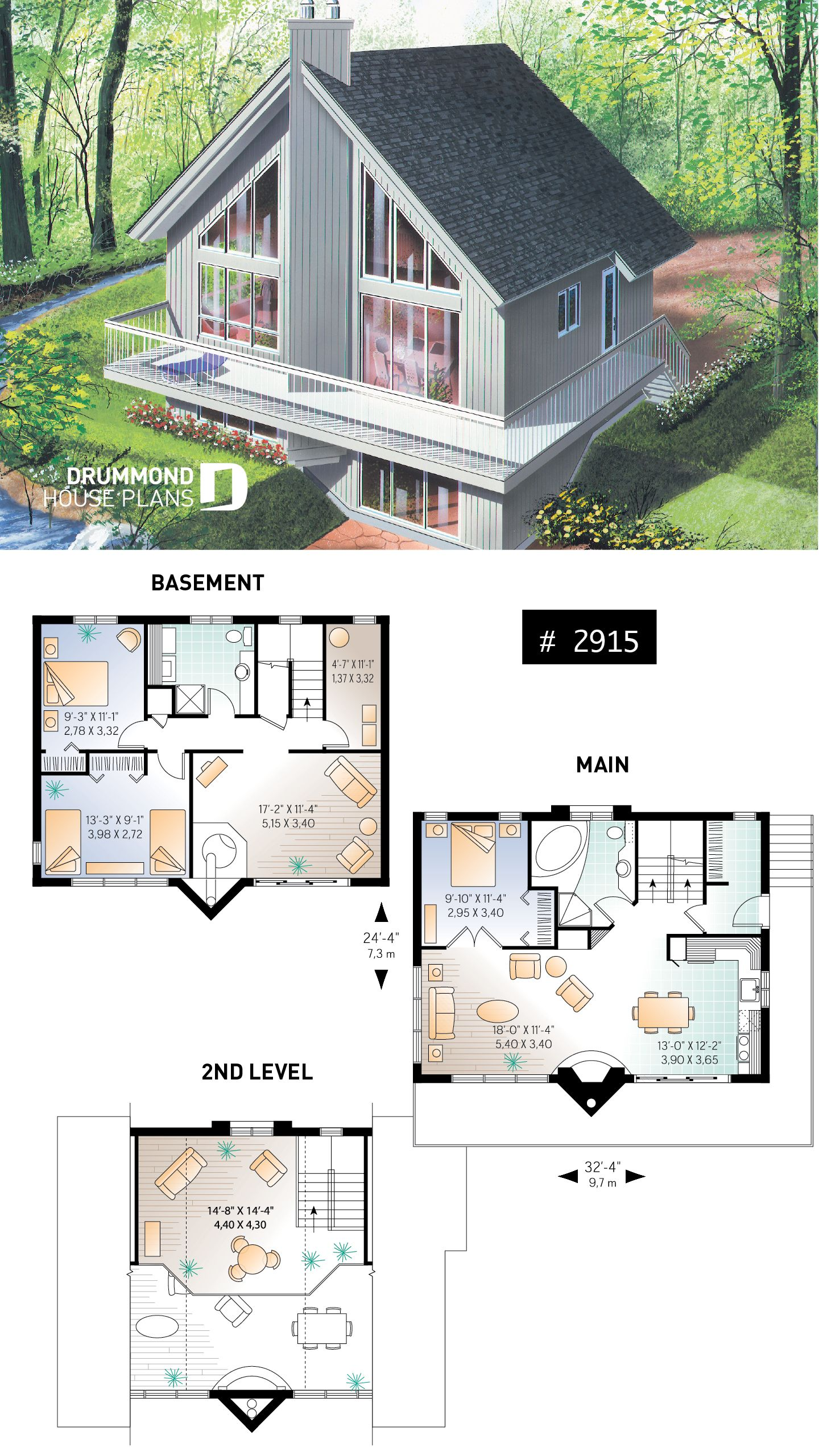 House Plan Skybridge 3 No 2915 Country Cottage House Plans