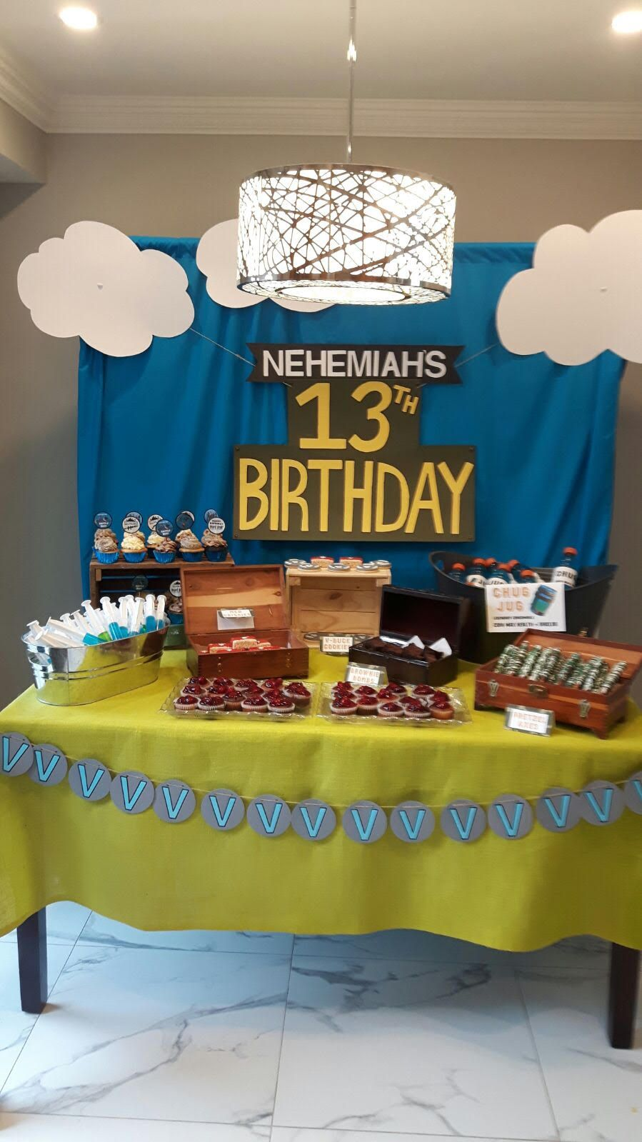 My Sons Fortnight Themed Bday Party Dessert Table