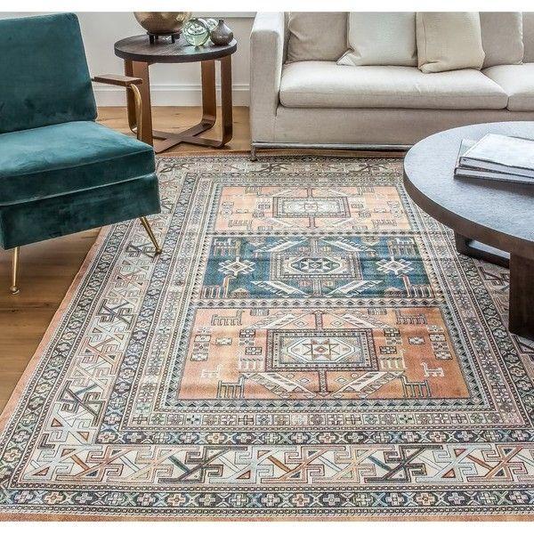 barium orange area rug 47 liked on polyvore featuring home rugs