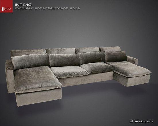Cineak Intimo Modular Entertainment Sofa Modern Sofa Sectional