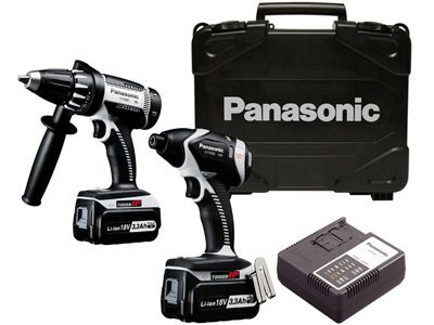 Panasonic Eyc159lr 18v Cordless Impact Driver Combo Kit Overview Panasonic Combo Kit Cordless Tools