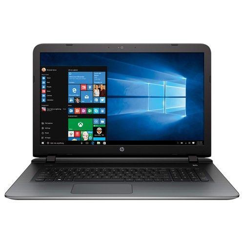 """HP - Pavilion 17.3"""" Touch-Screen Laptop - Intel Core i7 - 8GB Memory - 1TB Hard Drive - Silver - Larger Front"""