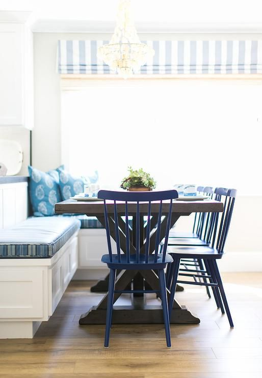 30++ Blue dining table bench Inspiration