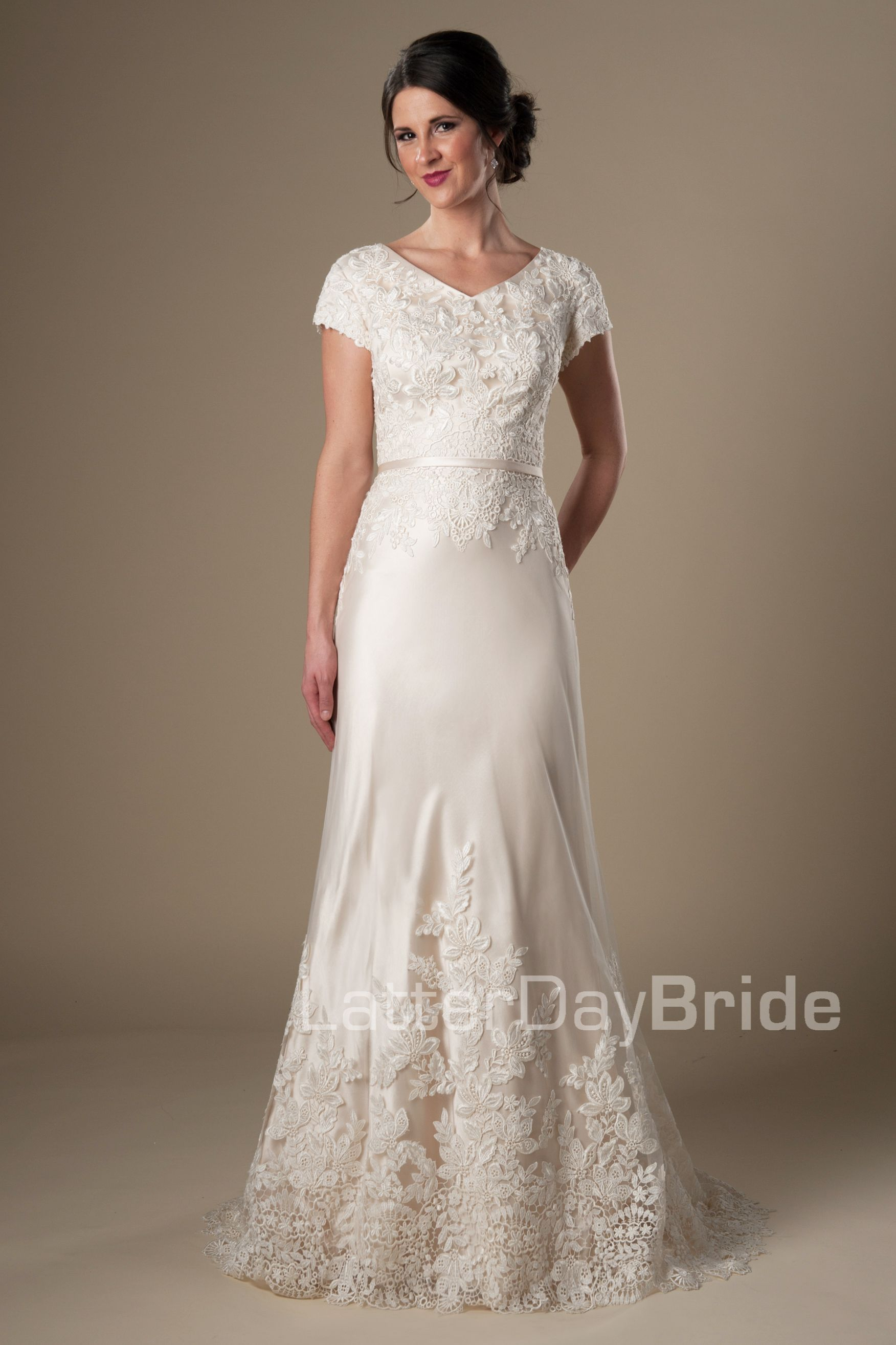 Bronwin | Modest Wedding Dress by LatterDayBride & Prom | Make a ...
