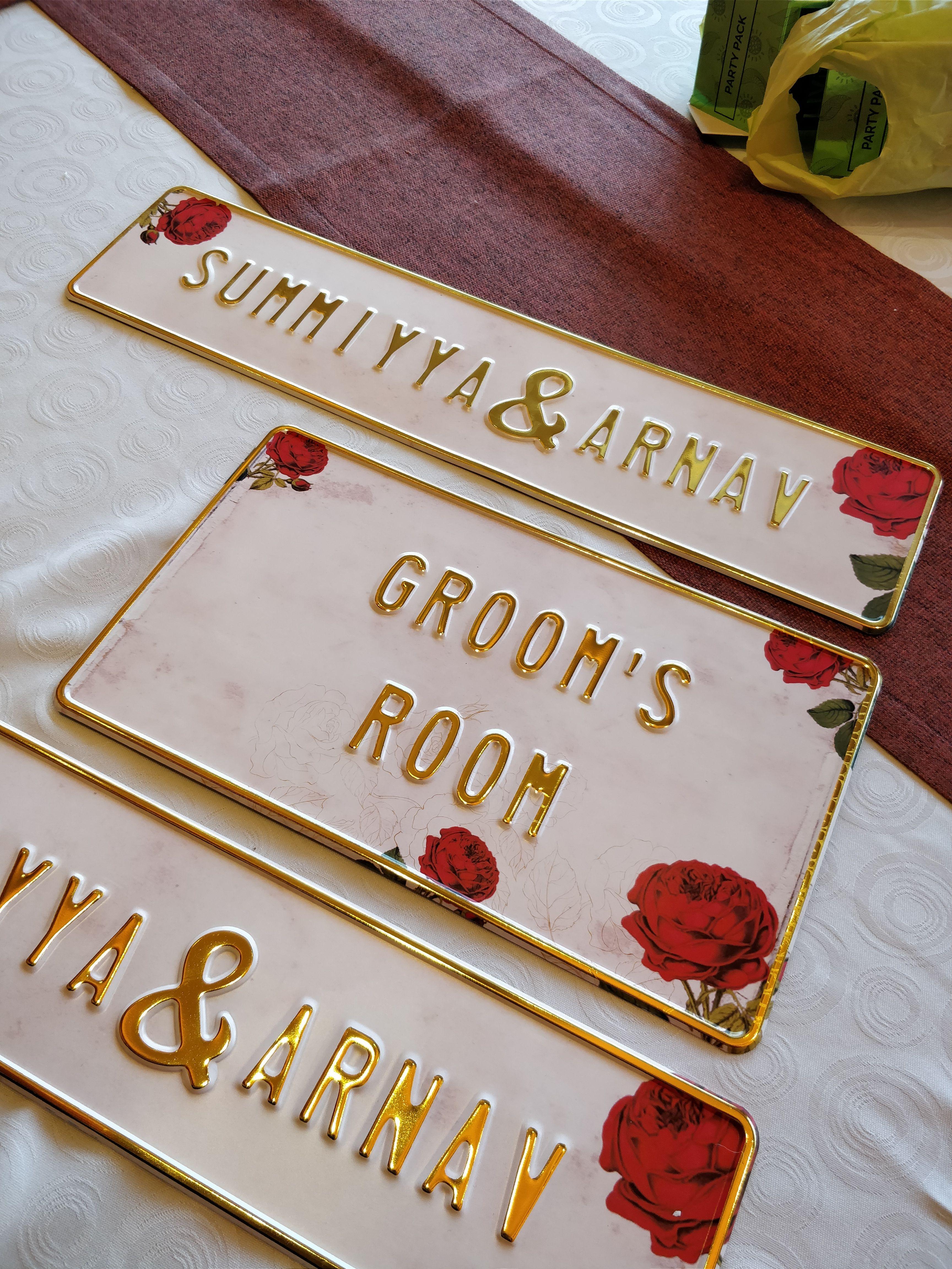 Modern Indian Wedding Decor Bride & Groom Personalised