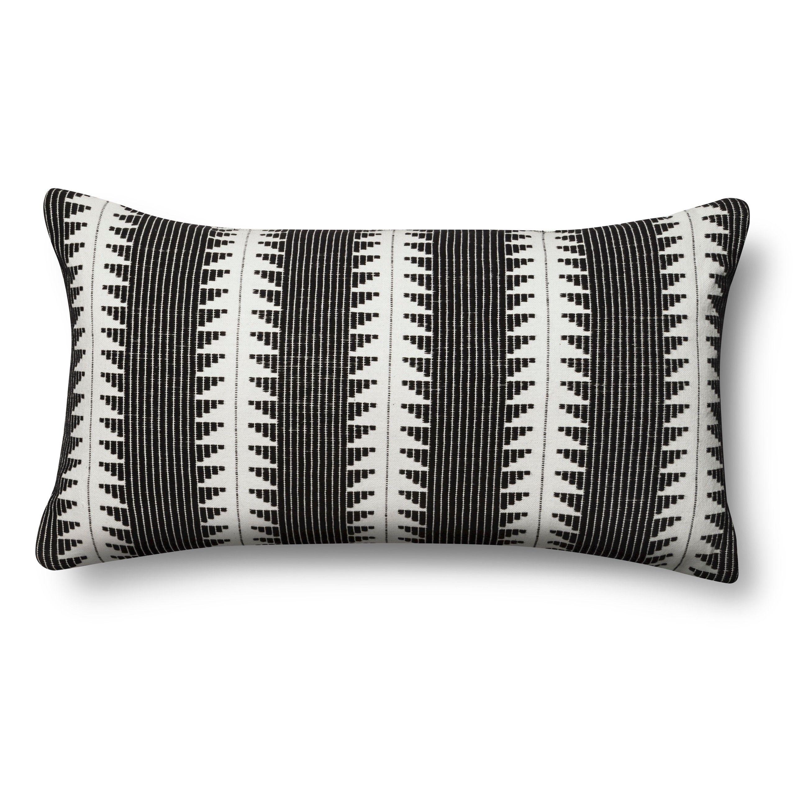 Black global oversized lumbar throw pillow bed sofa spot