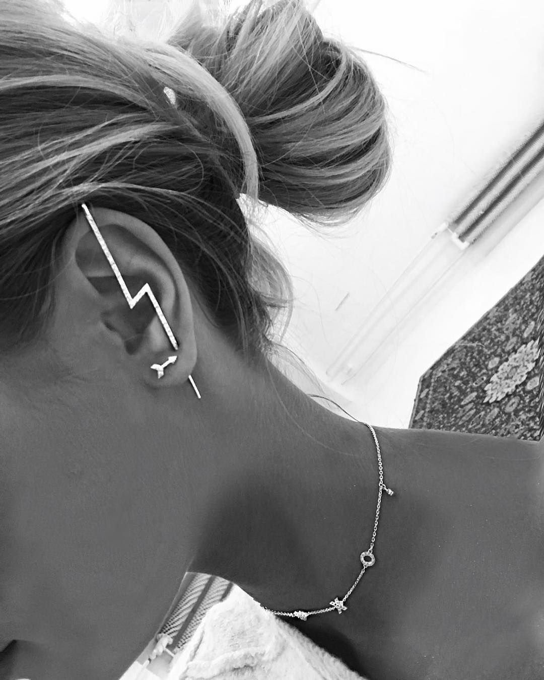 "0983155e4 SinByMannei on Instagram: ""New in!!! BOLT EARRING!! Availible now in ..."
