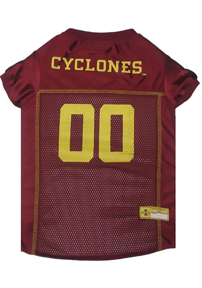 Iowa State Cyclones Football Pet Jersey Cardinal Polyester Size S In 2020 Iowa State Cyclones Iowa State Iowa