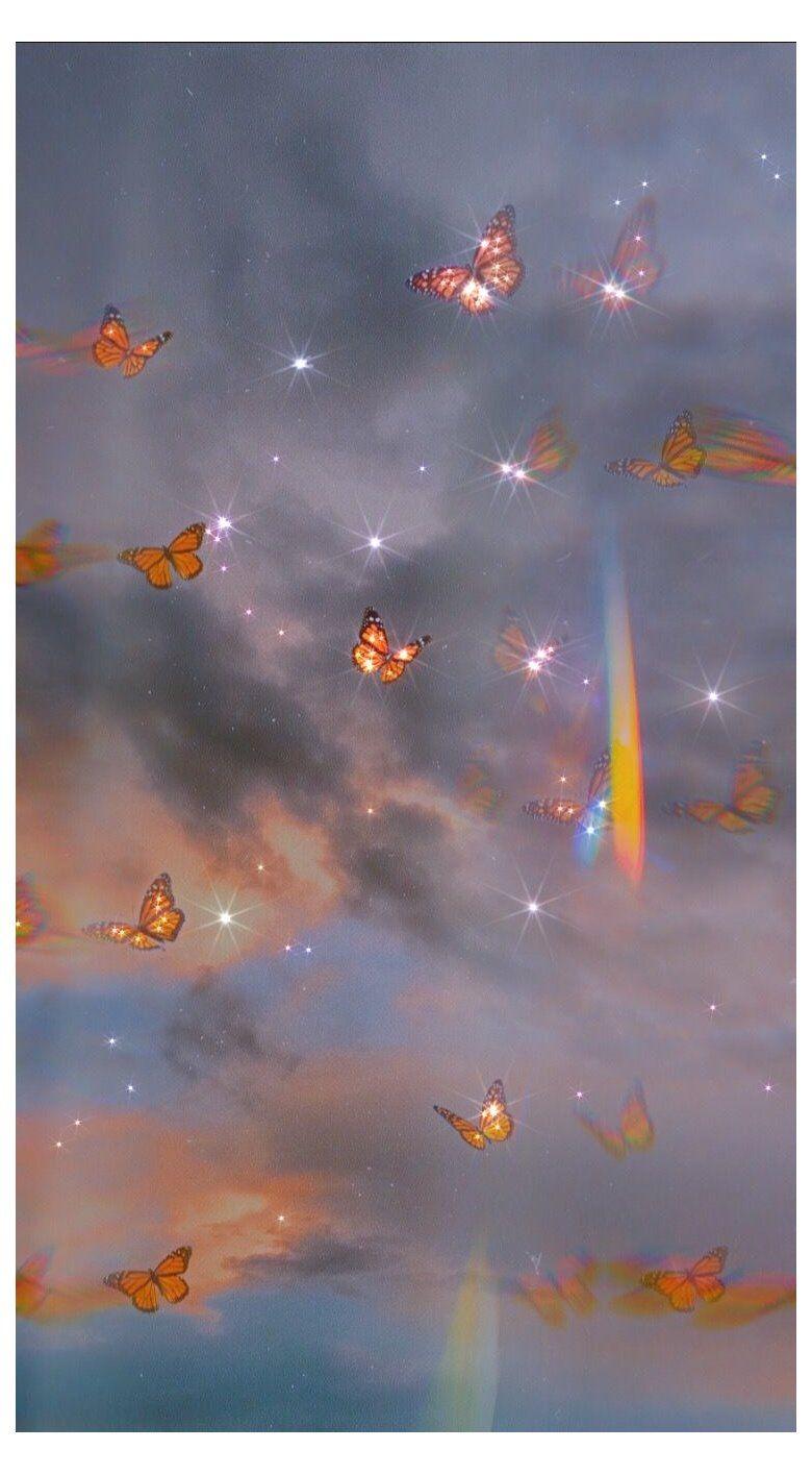 glitter butterfly aesthetic