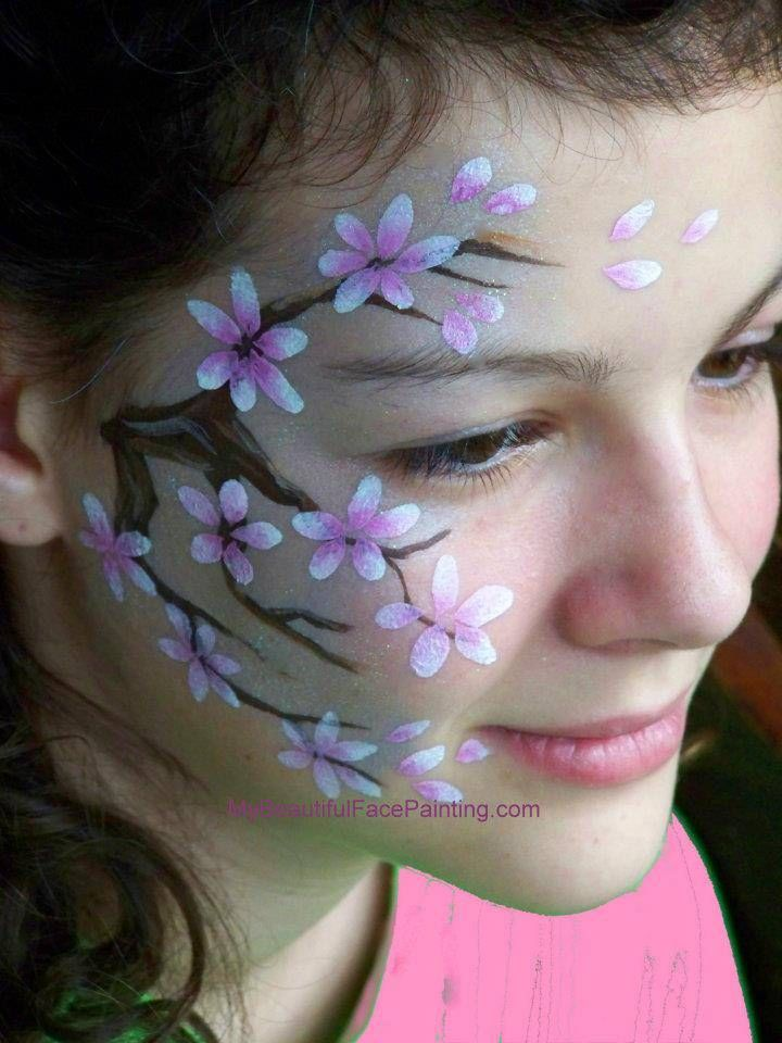 Pin by Horrorfairy on Flower faces | Face painting flowers ...