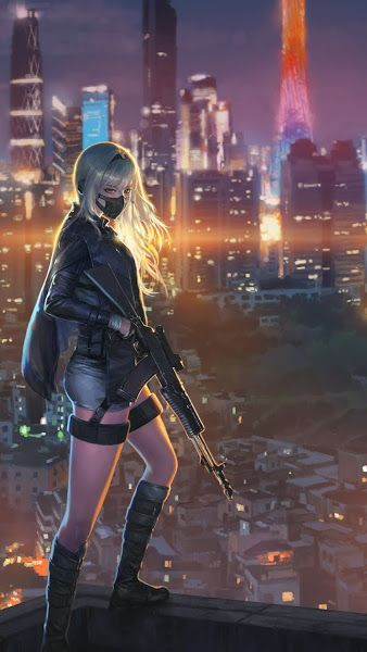 Anime, Girl, Rifle, City, Night, 4K,3840×2160, Wallpaper #Cities youtube9.ogysoft….   anime  338 X…