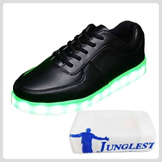 [Present:kleines Handtuch]High Top Weiß EU 44, USB LED Sportschuhe Größe 43 Turnschuhe Weiß 7 Unisex-Erwachsene High Aufladen Top Sport für Herren Sneaker Damen Lackleder Farbe S