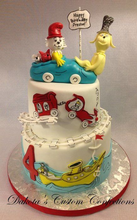 Topsy Turvy Green Eggs and Ham Cake (With images ...