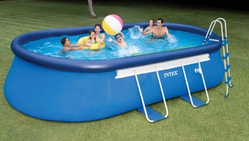 Intex Oval Frame Pool Set 20 Feet By 12 Feet By 48 Inch Discontinued By Manufacturer Intex Http Www Amazon Com Dp B00a Easy Set Pools Swimming Pools Intex