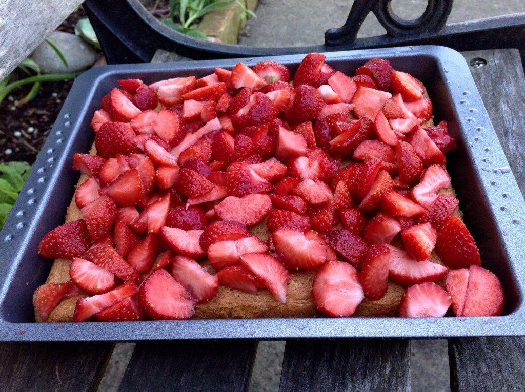 Erdbeer Fanta Kuchen Aus Meinem Kuchen Und Tortenblog In 2020 Fantakuchen Mit Erdbeeren Lebensmittel Essen Erdbeer Schmand Kuchen