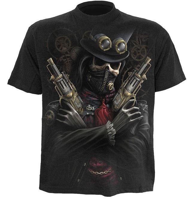 Short Sleeve T-Shirt STEAM PUNK BANDIT Black Spiral