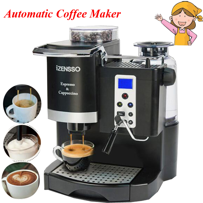 Coffee Maker with Grind Bean and Froth Milk | Frothing ...