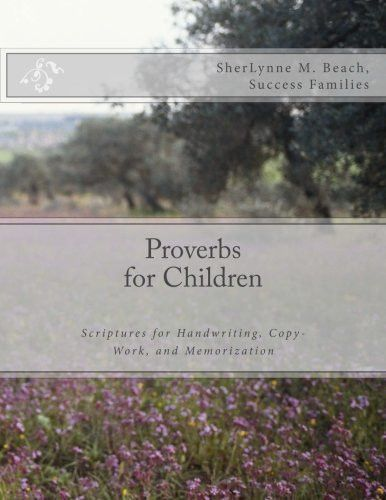 Proverbs for Children Handwriting, Copy-Work and Memorization - copy children's abc coloring pages