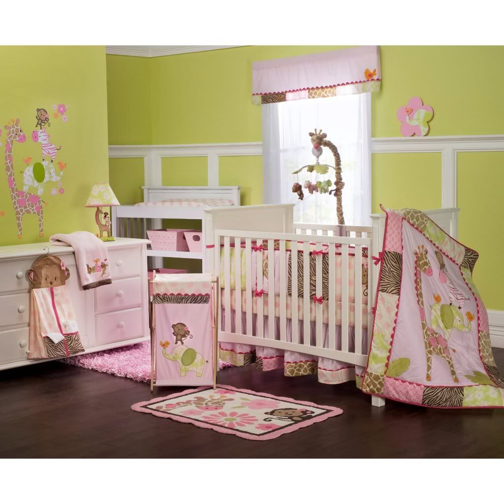Girls Monkey Crib Bedding | Bed sets, Crib and Baby bedding