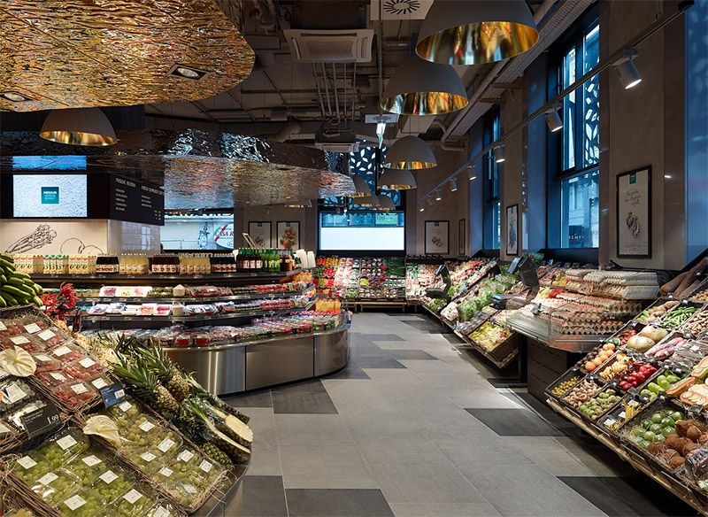 Amazing Supermarket In Vienna Commercial Interior Design News