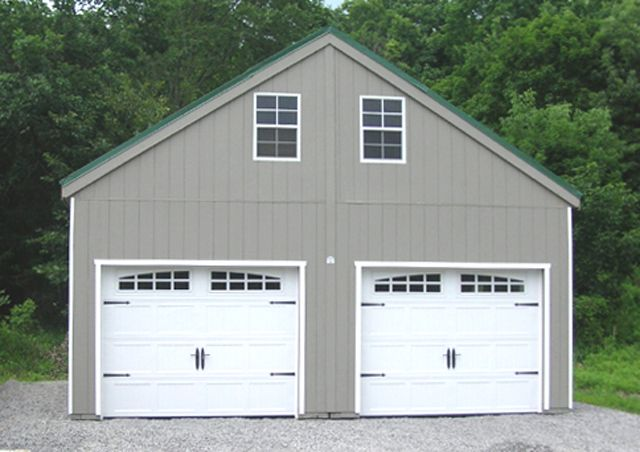 Double Wide Prefab Garage From Horizon Structures Can Be