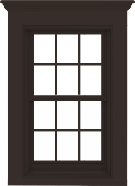 Anderson 400 Series Double Hung Window Dark Bronze With 4