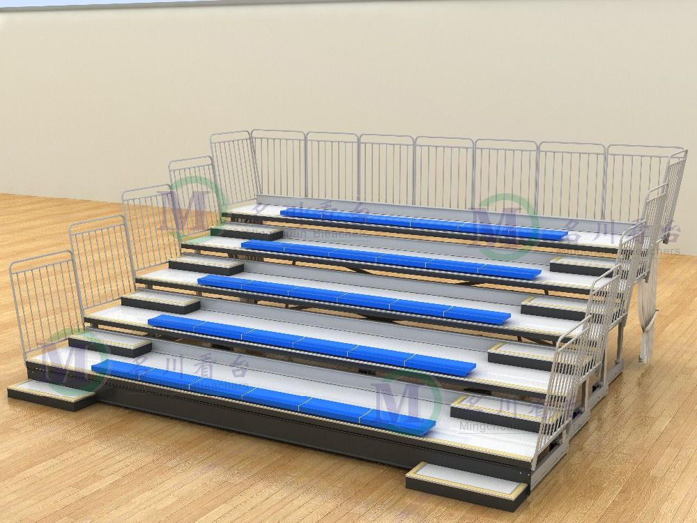 Venus Gym Seating Telescopic Bleacher Chairs Movable
