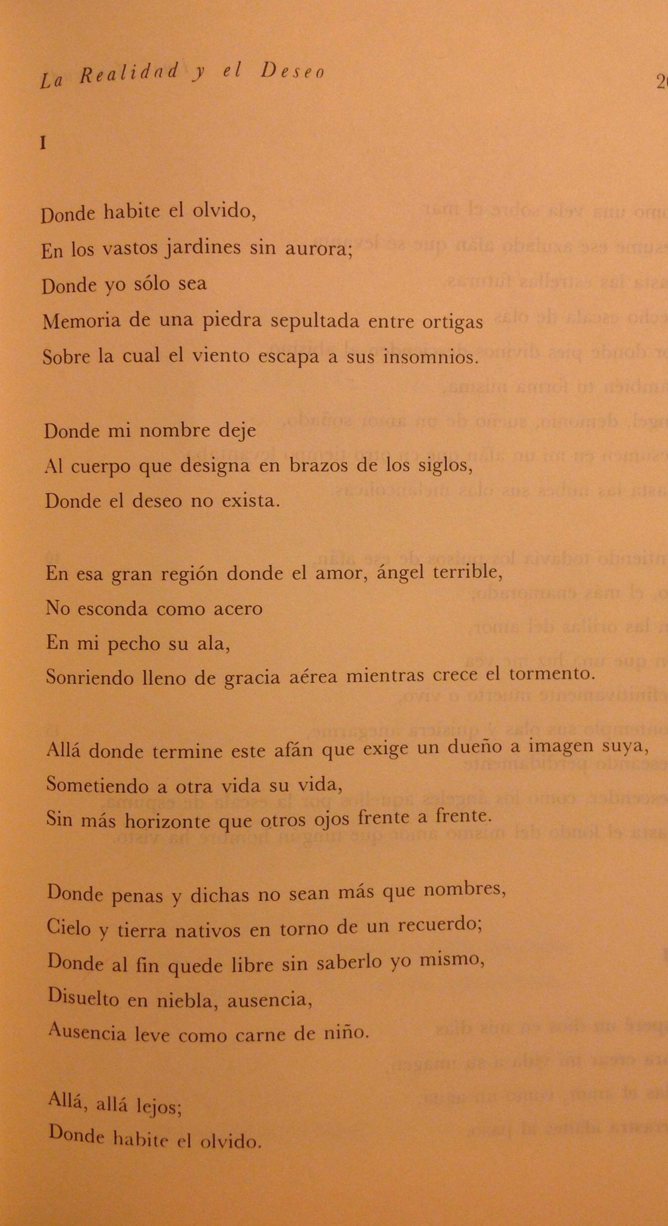 Donde Habite El Olvido Luis Cernuda Cernuda Frases Y