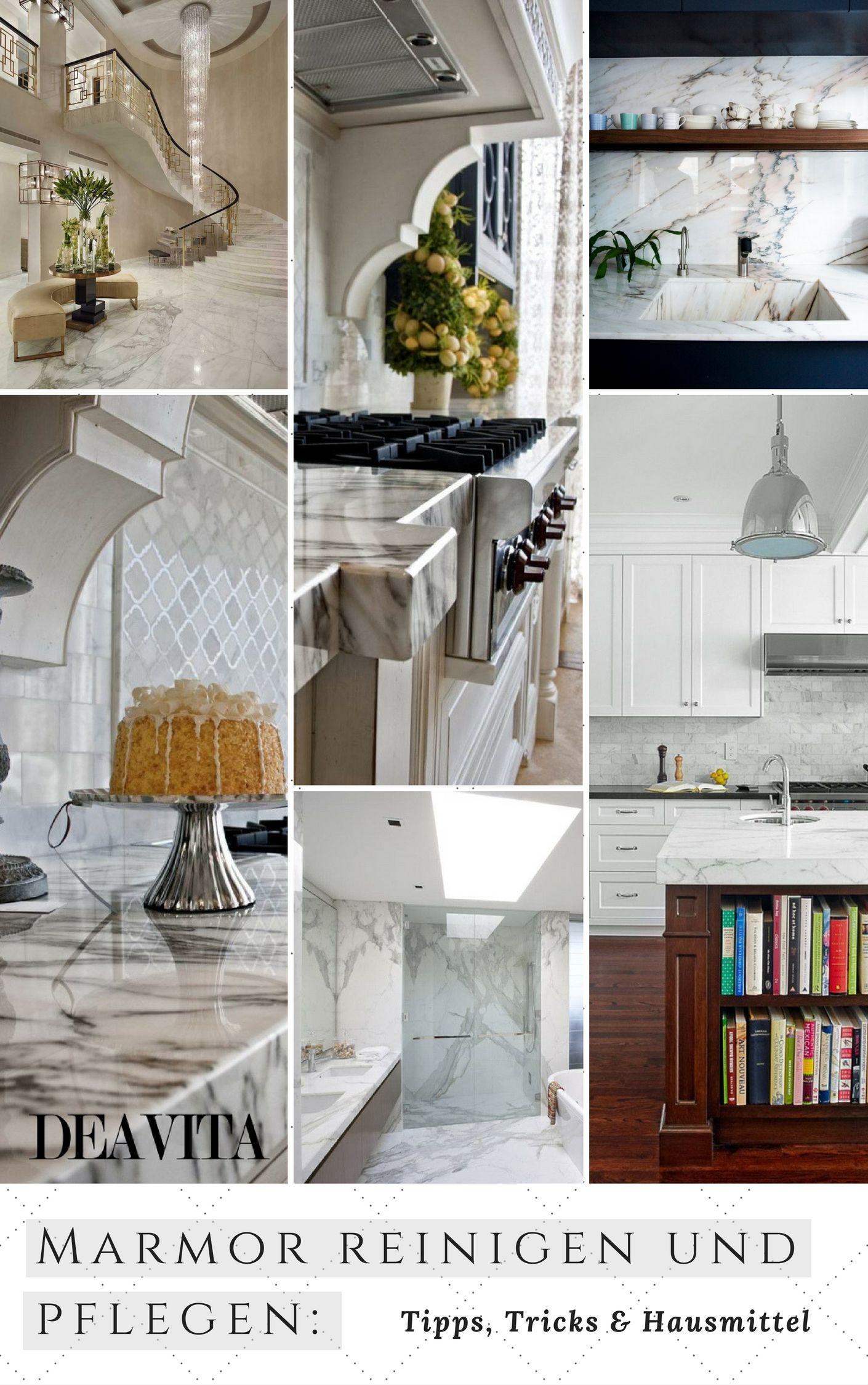 Als Ein Robuster Naturstein Ist Marmor Ein Beliebtes Material Für  Küchenarbeitsplatten, Böden Und Bäder.