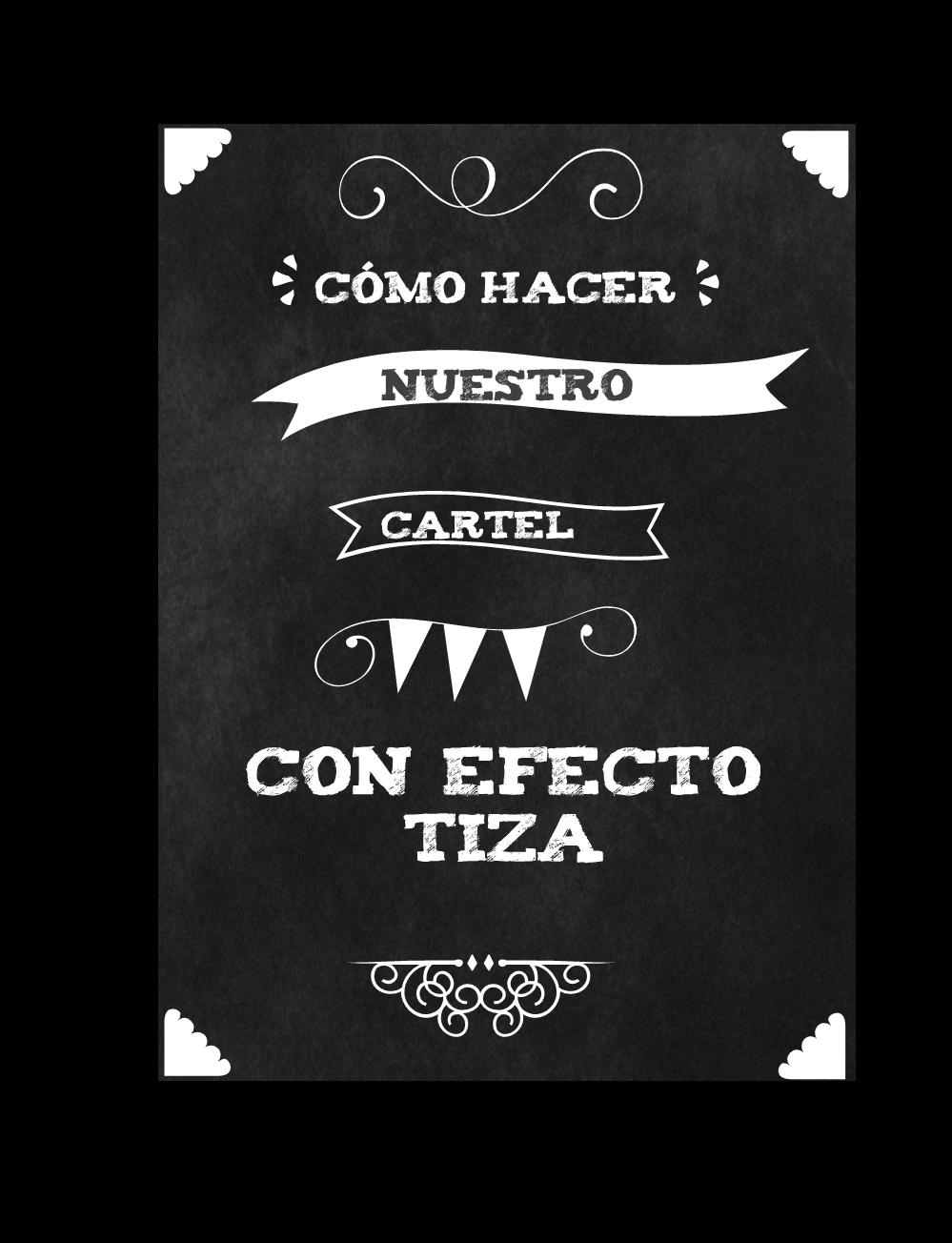 MYLIFE: COMO HACER TU CARTEL DE PIZARRA Y TIZA | Bordes | Pinterest ...