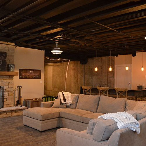 20 amazing unfinished basement ideas you should try basements basement ceilings and ceilings. Black Bedroom Furniture Sets. Home Design Ideas