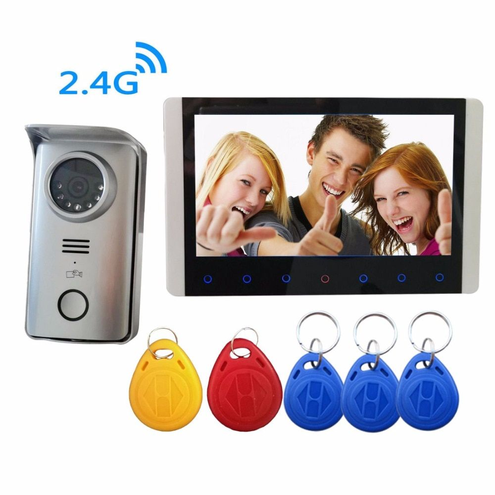 Digital Wireless Video Intercom Doorbell Rfid Camera Dvr System 7 Inch Wireless Camera Security System Video Eye Include Battery Digital Wireless Video Int Dengan Gambar