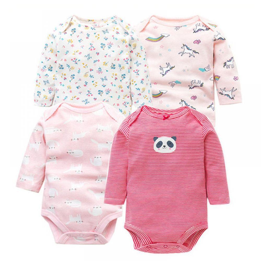 Newborn Infant Baby Boy Girl Cotton Romper Jumpsuit Bodysuit Clothes Outfit 0-2Y