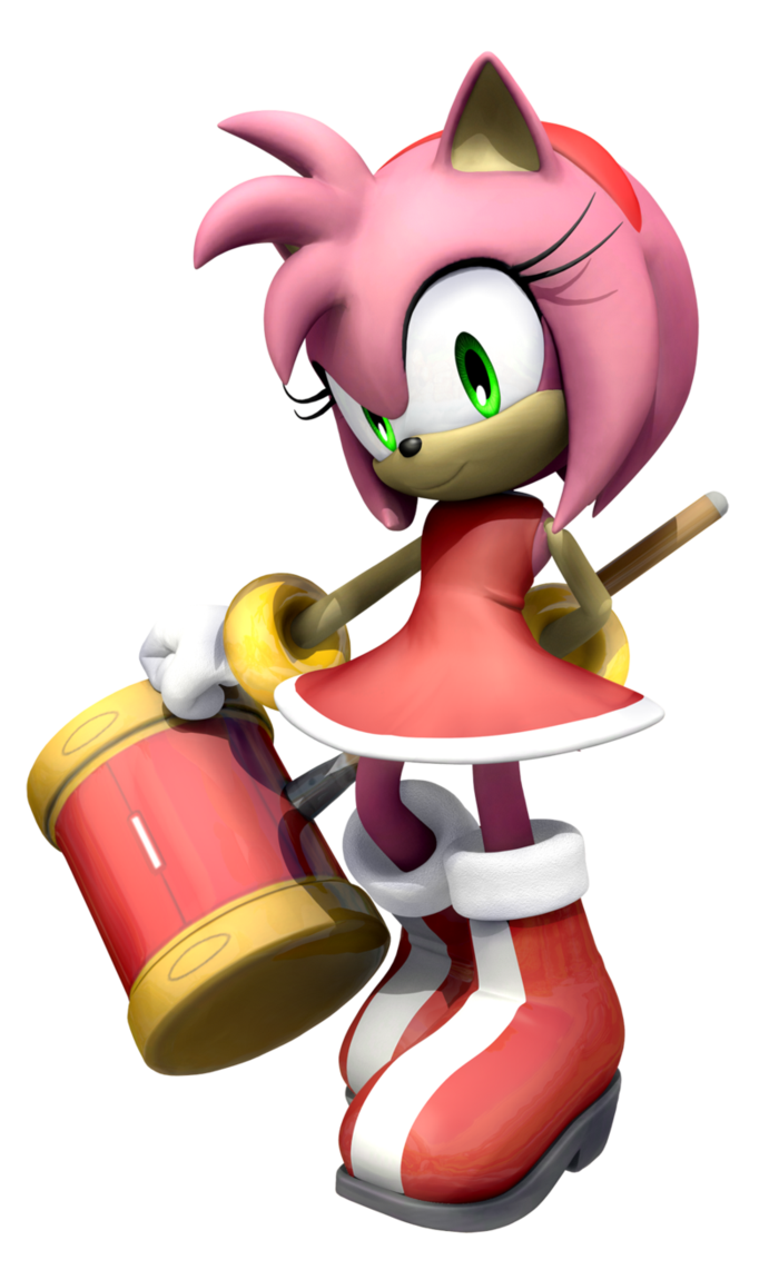Amy Rose - Sonic modern figure #game | Sonic the Hedgehog ...