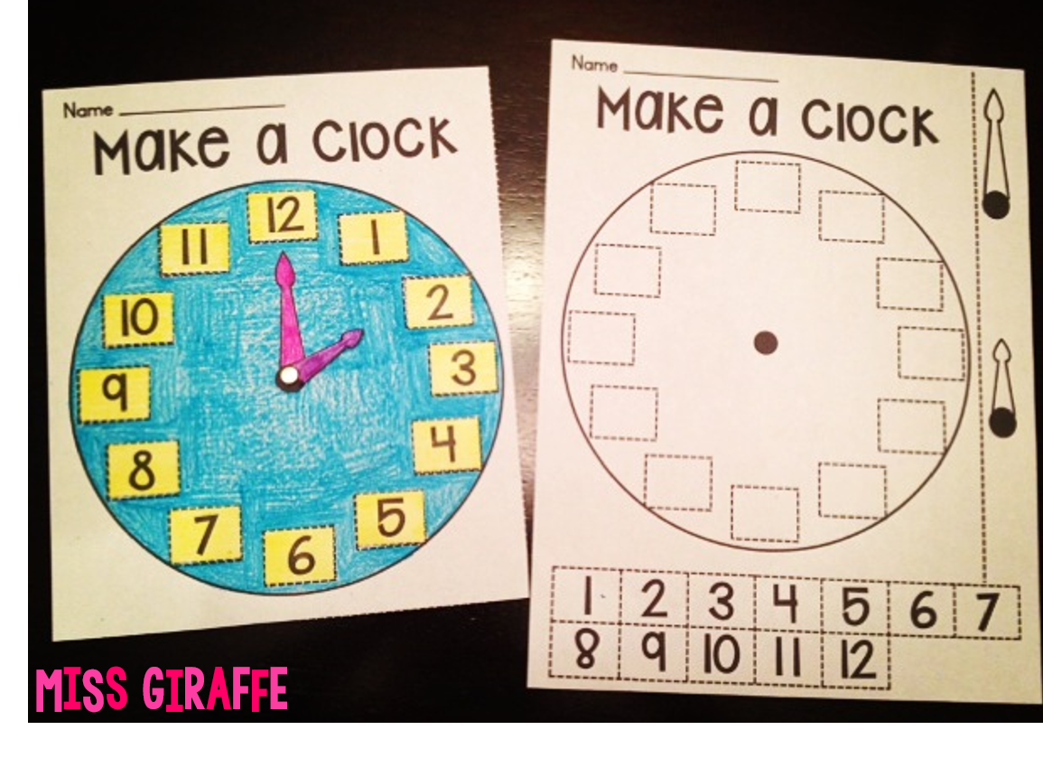Worksheet 1st Clock 1000 ideas about telling time on pinterest teaching making clocks huge blog post with a lot of tips